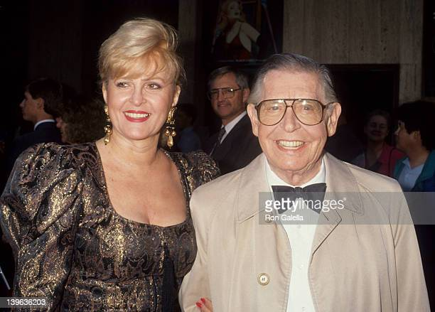 Comedian Milton Berle and wife Lorna Adams attending the premiere of City Of Angels on June 12 1991 at the Shubert Theater in Century City California