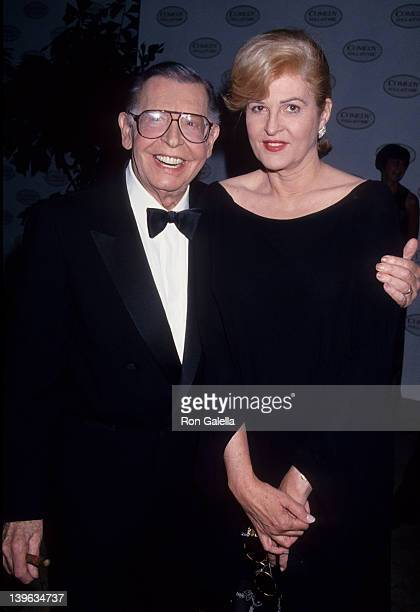 Comedian Milton Berle and wife Lorna Adams attending the taping of Second Annual Comedy Hall of Fame on August 28 1994 at the Beverly Hilton Hotel in...