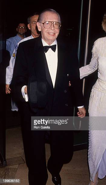 Comedian Milton Berle and wife Lorna Adams attending Third Annual Ella Lifetime Achievement Awards on October 23 1992 at the Beverly Hilton Hotel in...