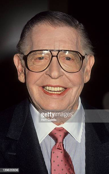 Comedian Milton Berle attending Fifth Annual Genesis Awards on February 3, 1991 at the Beverly Wilshire Hotel in Beverly Hills, California.