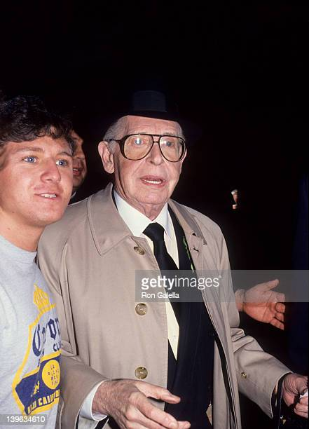 Comedian Milton Berle attending Funeral Service for Danny Thomas on February 8 1991 at the Good Shephard Church in Beverly Hills California