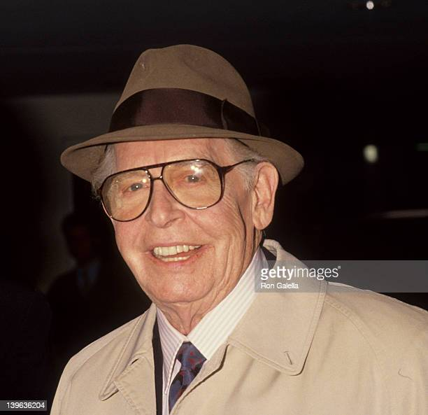 """Comedian Milton Berle attending the book party for Arnold Schwarzenegger """"Yamagata"""" on April 15, 1991 at the Armand Hammer Museum in Westwood,..."""
