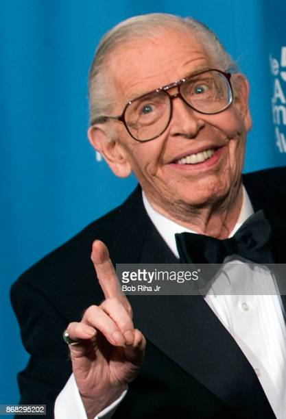 Comedian Milton Berle backstage at the 50th Annual Emmy Awards, on September 13, 1998 in Los Angeles, California.