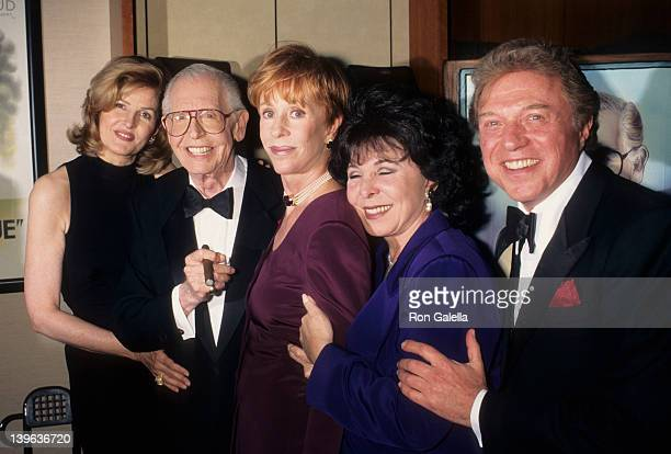 Comedian Milton Berle wife Lorna Adams actress Carol Burnett and singers Edie Gorme and Steve Lawrence attending 88th Birthday Party for Milton Berle...