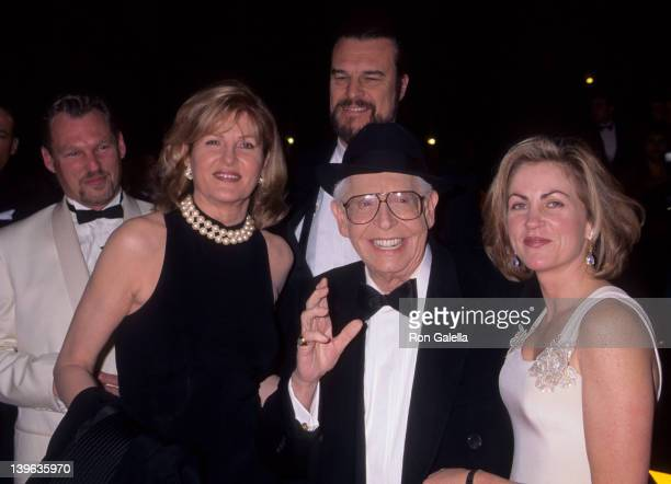 Comedian Milton Berle wife Lorna Adams and daughter attending 10th Annual American Comedy Awards on February 11 1996 at the Shrine Auditorium in Los...