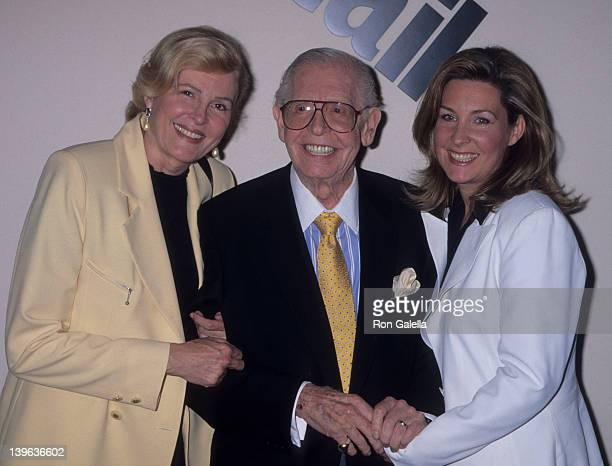 Comedian Milton Berle wife Lorna Adams and daughter attending Details Magazine Party on September 10 1996 at Saks Fifth Avenue in Beverly Hills...