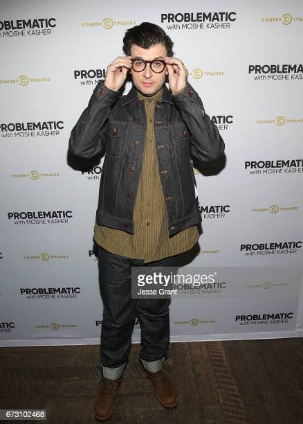 Comedian Moshe Kasher attends Comedy Central's Problematic with Moshe Kasher viewing party at HYDE Sunset Kitchen Cocktails on April 25 2017 in West...