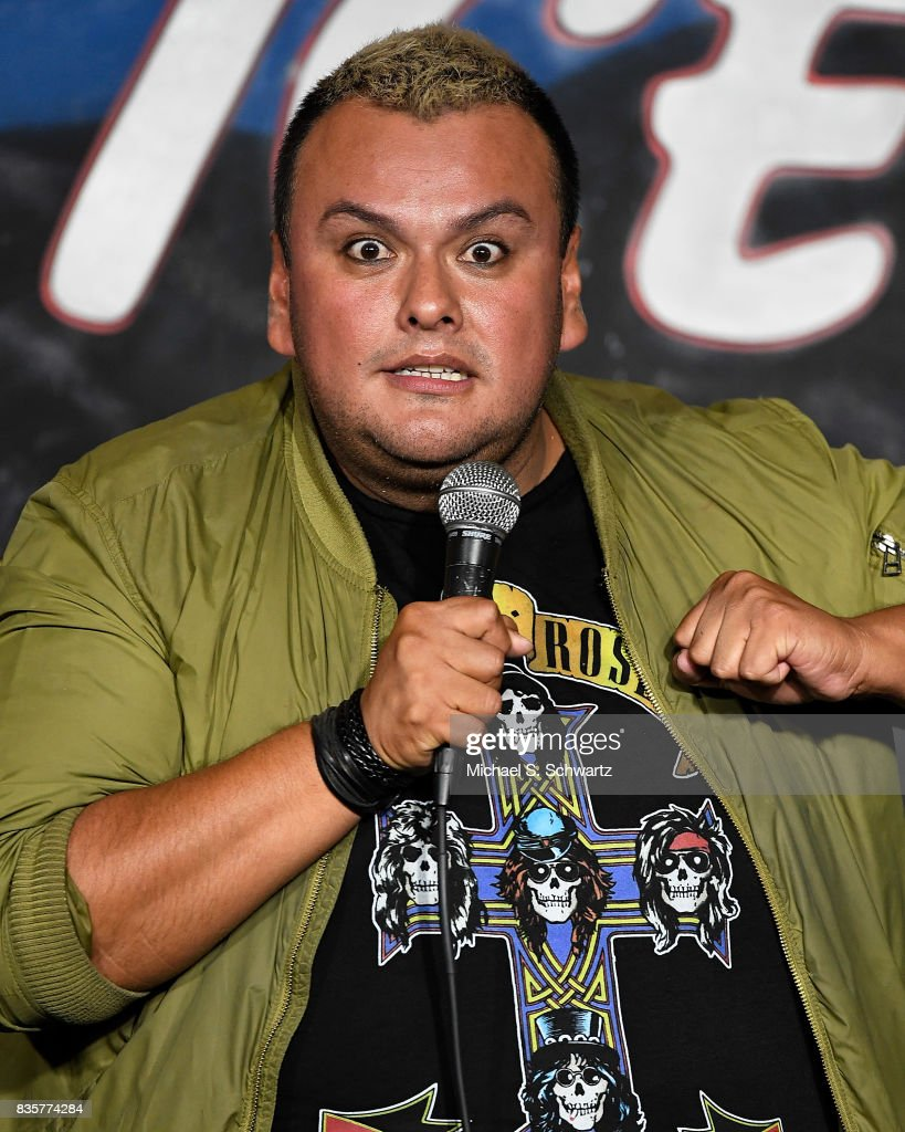 Comedian Narcizo Gonzalez performs during his appearance at The Ice House Comedy Club on August 19, 2017 in Pasadena, California.