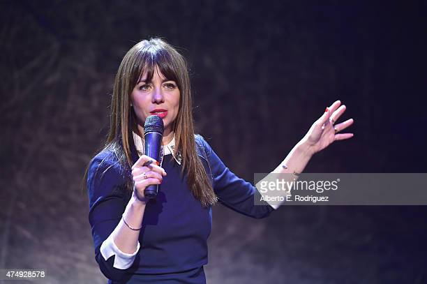 Comedian Natasha Leggero attends The Alliance For Children's Rights' Right To Laugh Benefit at The Avalon on May 27 2015 in Hollywood California