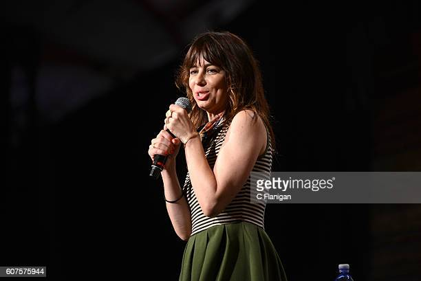 Comedian Natasha Leggero performs on the Humor Me stage during KAABOO Del Mar at the Del Mar Fairgrounds on September 18, 2016 in Del Mar, California.