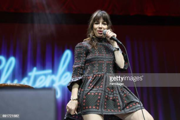 Comedian Natasha Leggero performs onstage at The Bill Graham Stage at Civic Center Plaza and The Bill Graham Civic Auditorium on June 2 2017 in San...