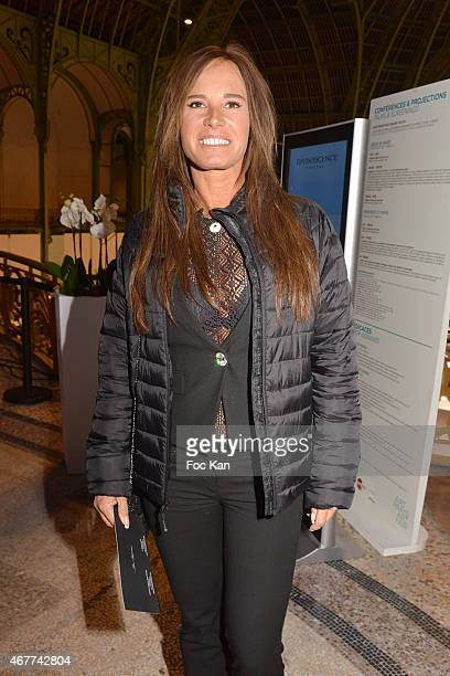 Comedian Nathalie Marquay attends the 'Diamond Night by Divinescence Vendome' Harumi Klossowska Jewellery Exhibition Preview As Part Of Art Paris Art...