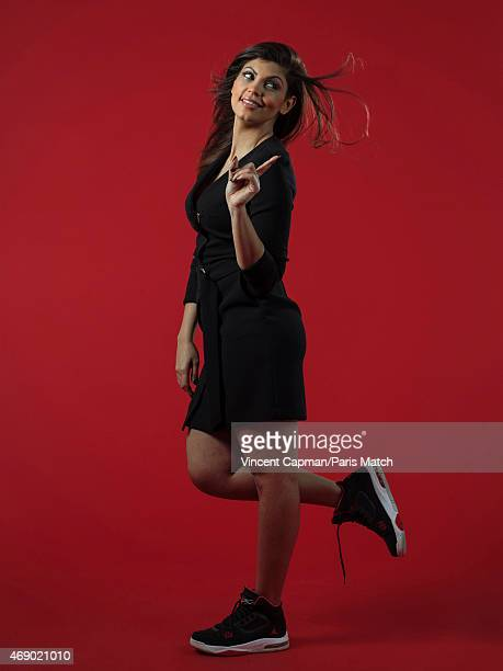 Comedian Nawel Madani is photographed for Paris Match on March 11 2015 in Paris France