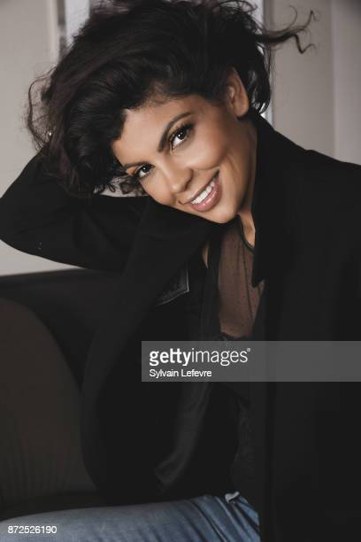 Comedian Nawell Madani is photographed for Self Assignment on October 2 2017 in Namur France