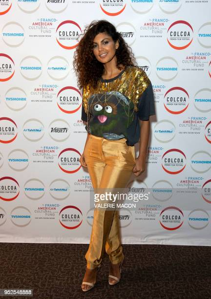 Comedian Nawell Madani poses during the Colcoa French Film Festival Day 6 at the Directors Guild of America on April 28 West Hollywood California