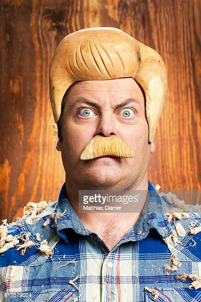 Comedian Nick Offerman is photographed for Playboy Magazine on August 24 2011 in