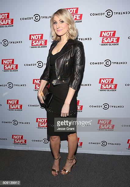 Comedian Nikki Glaser attends the Not Safe With Nikki Glaser Season One Premiere Party at The London on February 8 2016 in West Hollywood California