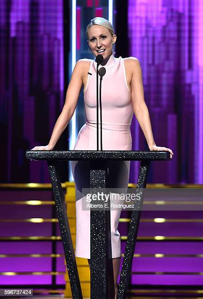 Comedian Nikki Glaser speaks onstage at The Comedy Central Roast of Rob Lowe at Sony Studios on August 27 2016 in Los Angeles California The Comedy...