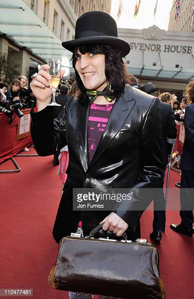 Comedian Noel Fielding arrives at the Galaxy British Book Awards at Grosvenor House on April 3 2009 in London England