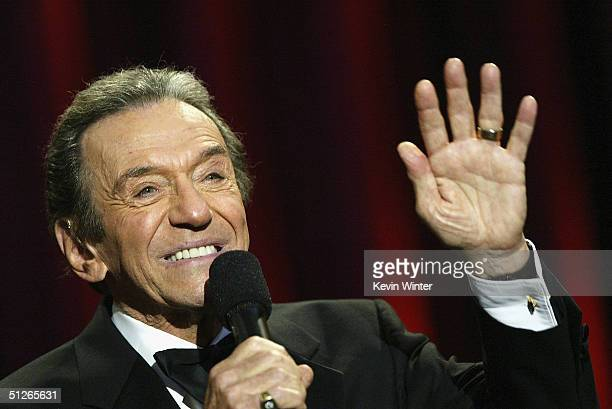 Comedian Norm Crosby performs at the 39th Annual Jerry Lewis MDA Labor Day Telethon at CBS Television City on September 5 2004 in Los Angeles...