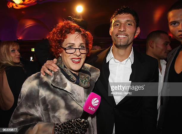 Comedian Oliver Pocher and soccer player Kevin Kuranyi attend the Lambertz Monday Night Schoko Fashion party at the Alten Wartesaal on February 1...