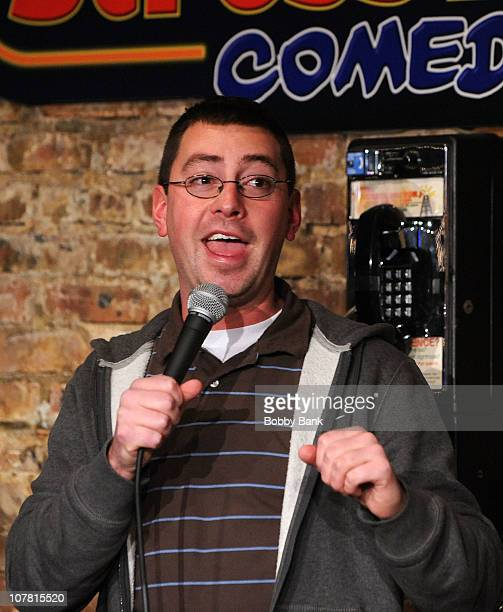Comedian Pat House performs at The Stress Factory Comedy Club on December 29, 2010 in New Brunswick, New Jersey.