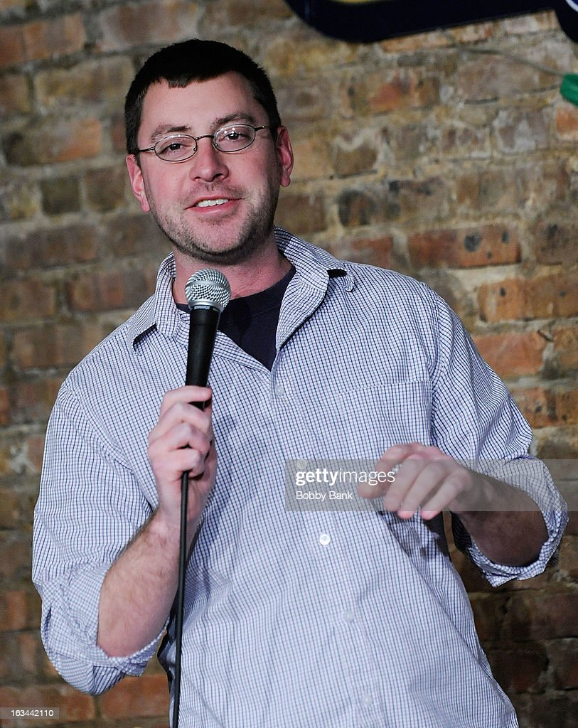 Comedian Pat House performs live at The Stress Factory Comedy Club on March 9, 2013 in New Brunswick, New Jersey.
