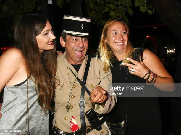 Comedian Patrick Chagnaud beetween guests attend the VIP Room Saint Tropez Party on July 27, 2019 in Saint-Tropez, France.