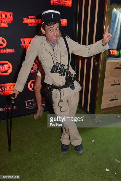 Comedian Patrick Chagnaud known as Le Gendarme de Saint tropez attends the DJ DJ Sylvain Armand Party at the VIP Room Saint Tropez on July 28 2015 in...