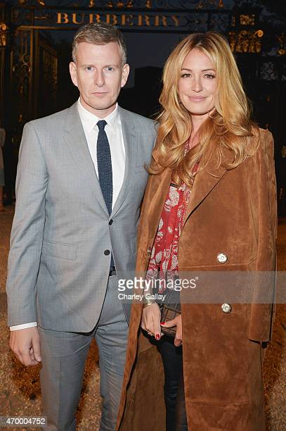 Comedian Patrick Kielty and tv personality Cat Deeley attend the Burberry 'London in Los Angeles' event at Griffith Observatory on April 16 2015 in...