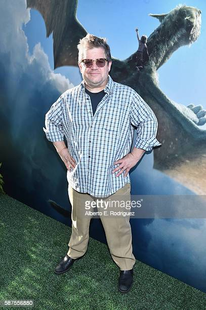 Comedian Patton Oswalt arrives at the world premiere of Disney's 'PETE'S DRAGON' at the El Capitan Theater in Hollywood on August 8 2016 The new film...
