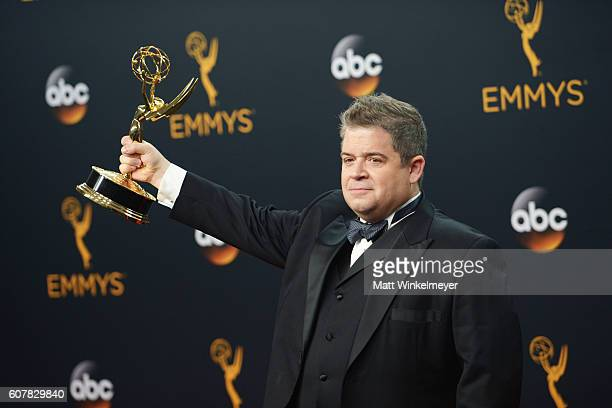 Comedian Patton Oswalt winner of Best Writing for a Variety Special for Patton Oswalt Talking for Clapping poses in the press room during the 68th...