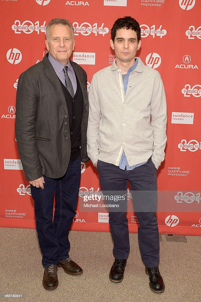 Comedian Paul Reiser (L) and filmmaker Damien Chazelle attend the premiere of 'Whiplash' at the Eccles Center Theatre during the 2014 Sundance Film Festival on January 16, 2014 in Park City, Utah.