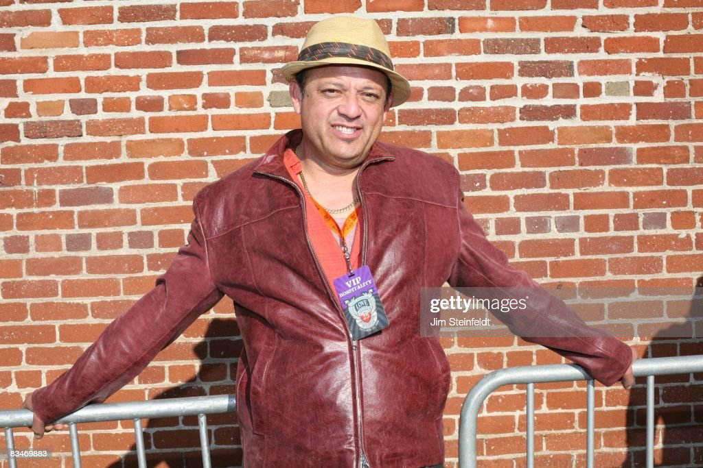 Comedian Paul Rodriguez hangs out backstage for the 25th Anniversary Love Ride (the world's largest 1 day motorcycle fundraiser) at Harley Davidson of Glendale in Glendale, California on October 26, 2008.