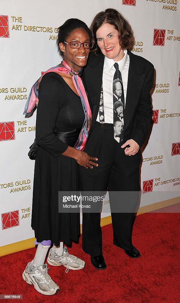 Comedian Paula Poundstone (R) and daughter Toshia attend the 14th Annual Art Directors Guild Awards at The Beverly Hilton Hotel on February 13, 2010 in Beverly Hills, California.