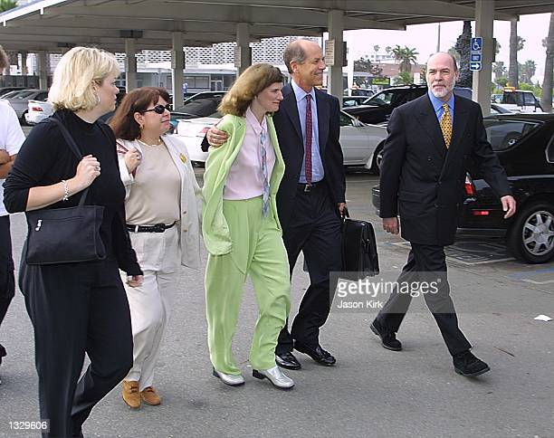 Comedian Paula Poundstone arrives at the Santa Monica Superior Courthouse with her attorney Steven Cron July 3, 2001 in Santa Monica, CA. Poundstone...