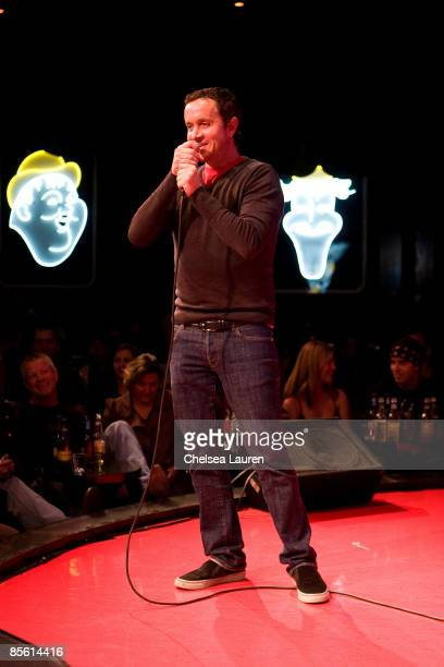 Comedian Pauly Shore introduces his film 'Adopted' at the private screening of 'Adopted' at the Comedy Store on March 25 2009 in Hollywood California