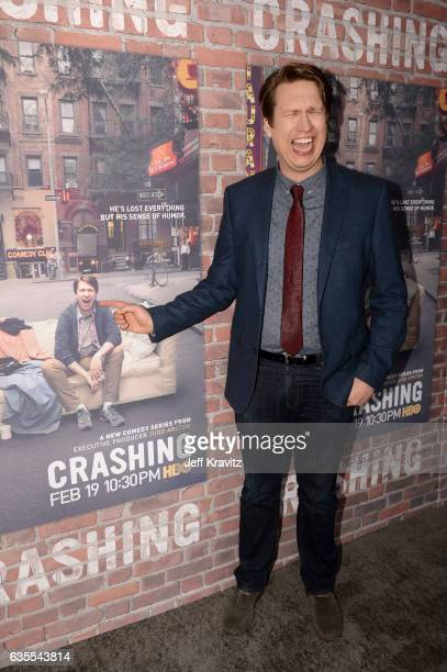 Comedian Pete Holmes attends HBO's Crashing premiere and after party on February 15 2017 in Los Angeles California
