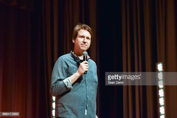 Comedian Pete Holmes performs during the ArtsConnection 2017 Benefit Celebration at Battery Park City School on June 12 2017 in New York City