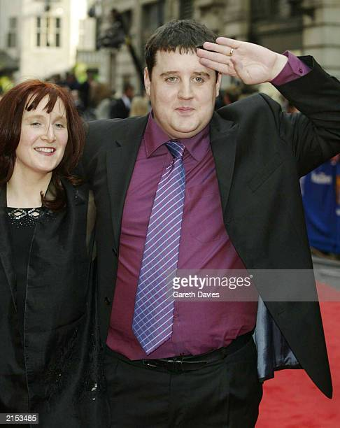 Comedian Peter Kay and wife arrive at the British Academy Television Awards at the London Palladium London April 13 2003 Kay was nominated for Best...