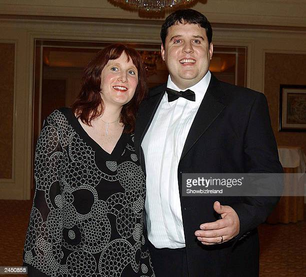 Comedian Peter Kay and wife Susan attend the Keith Duffy Pepsi Celebrity Golf Classic afterparty at The Four Seasons hotel on August 30 2003 in...