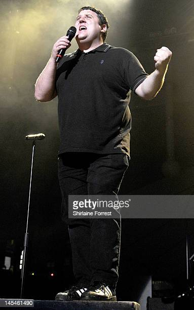 Comedian Peter Kay appears as special surprise guest introducing Keane performing at Manchester Apollo on May 30 2012 in Manchester England