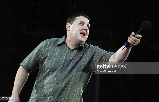 Comedian Peter Kay performs in support of US singer and pianist Billy Joel to an audience of 47 at Croke Park on July 29 2006 in Dublin Ireland