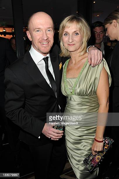Comedian Peter Nottmeier and Petra Nadolny attend the Video Entertainment Night at The Westin Grand on November 16 2011 in Munich Germany