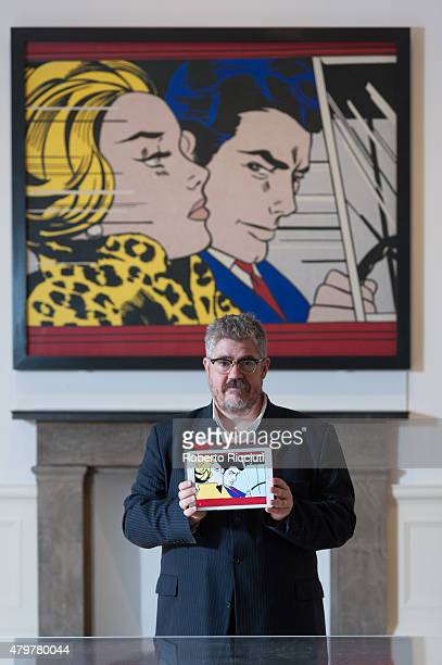 Comedian Phill Jupitus attends a photocall to launch Sketch Comic at Scottish National Gallery of Modern Art on July 7 2015 in Edinburgh Scotland