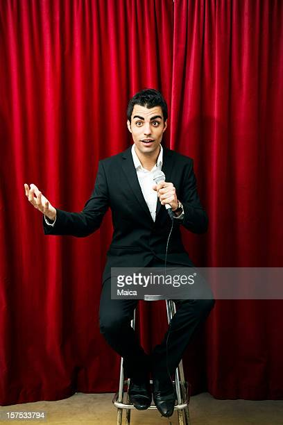 comedian - stand up comedian stock pictures, royalty-free photos & images