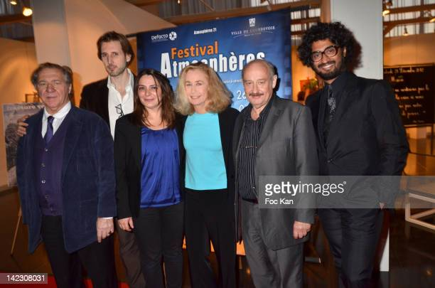 Comedian Pierre Santini director Cyril Legrix comedians Alexandra Dadier Brigitte Fossey Michel Jonasz and Sebastien Folin attend the 'Paradis Perdu'...