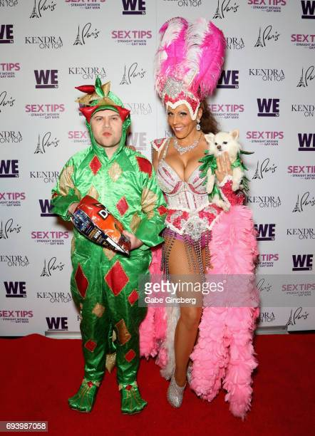 Comedian Piff the Magic Dragon and entertainer Jade Simone with Mr Piffles attend the premiere of 'Sex Tips for Straight Women from a Gay Man' at the...