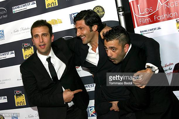 Comedian Pio D'Antini, actor Walter Nudo and comedian Amedeo Grieco attend the 9th Annual L.A. Italia Film, fashion and art's festival closing night...