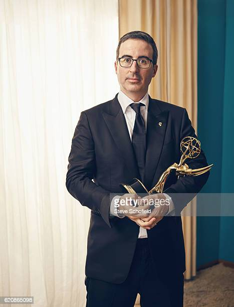 Comedian political commentator television host John Oliver is photographed for Emmy magazine on September 18 2016 in Los Angeles California